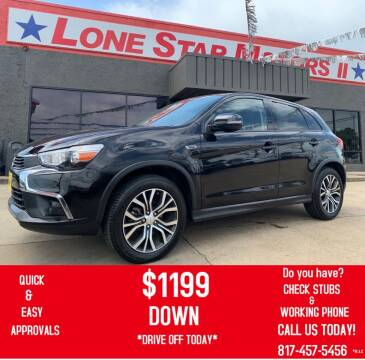 2016 Mitsubishi Outlander Sport for sale at LONE STAR MOTORS II in Fort Worth TX