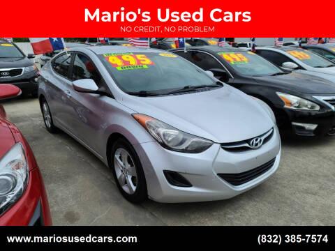 2011 Hyundai Elantra for sale at Mario's Used Cars - Pasadena Location in Pasadena TX