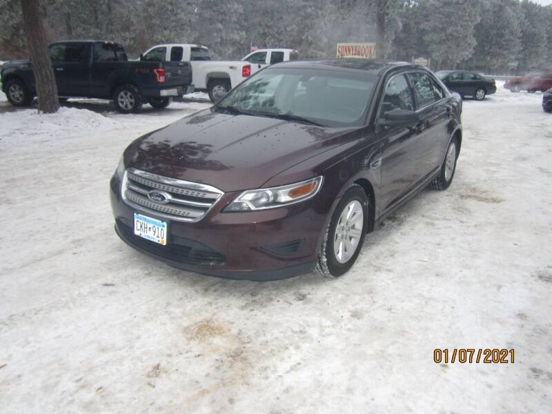 2010 Ford Taurus for sale at SUNNYBROOK USED CARS in Menahga MN