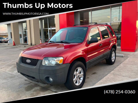 2006 Ford Escape for sale at Thumbs Up Motors in Warner Robins GA