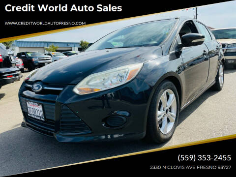 2014 Ford Focus for sale at Credit World Auto Sales in Fresno CA
