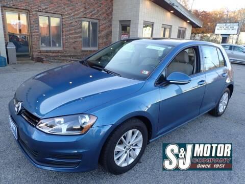 2016 Volkswagen Golf for sale at S & J Motor Co Inc. in Merrimack NH