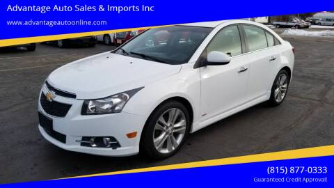 2014 Chevrolet Cruze for sale at Advantage Auto Sales & Imports Inc in Loves Park IL