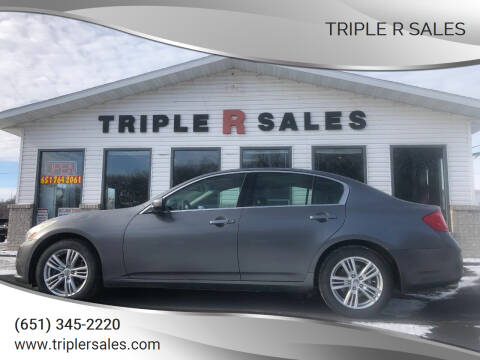 2011 Infiniti G25 Sedan for sale at Triple R Sales in Lake City MN