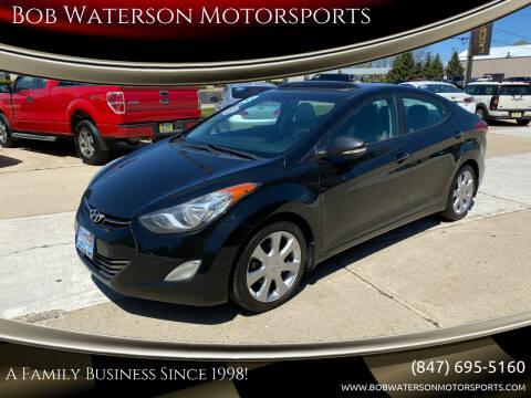 2013 Hyundai Elantra for sale at Bob Waterson Motorsports in South Elgin IL