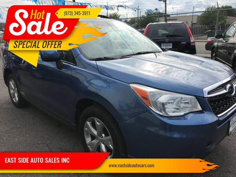 2015 Subaru Forester for sale at EAST SIDE AUTO SALES INC in Paterson NJ