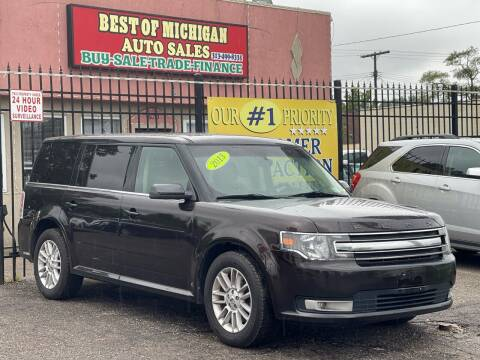2013 Ford Flex for sale at Best of Michigan Auto Sales in Detroit MI