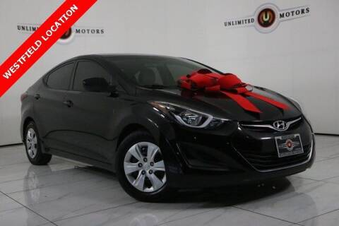 2016 Hyundai Elantra for sale at INDY'S UNLIMITED MOTORS - UNLIMITED MOTORS in Westfield IN
