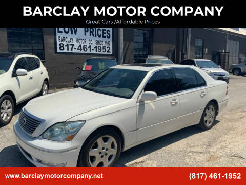 2004 Lexus LS 430 for sale at BARCLAY MOTOR COMPANY in Arlington TX