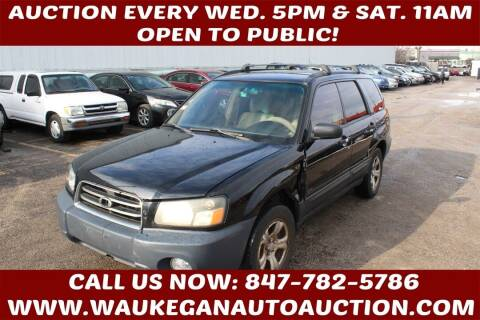2005 Subaru Forester for sale at Waukegan Auto Auction in Waukegan IL