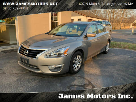 2014 Nissan Altima for sale at James Motors Inc. in East Longmeadow MA