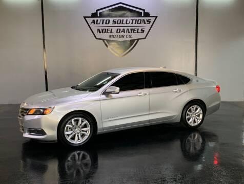 2016 Chevrolet Impala for sale at Noel Daniels Motor Company in Ridgeland MS