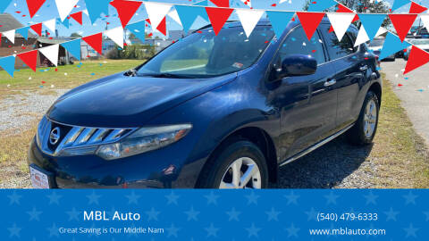 2009 Nissan Murano for sale at MBL Auto in Fredericksburg VA