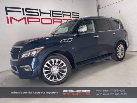 2017 Infiniti QX80 for sale at Fishers Imports in Fishers IN