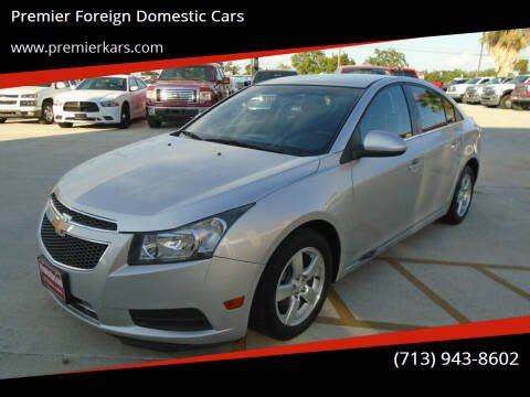 2012 Chevrolet Cruze for sale at Premier Foreign Domestic Cars in Houston TX