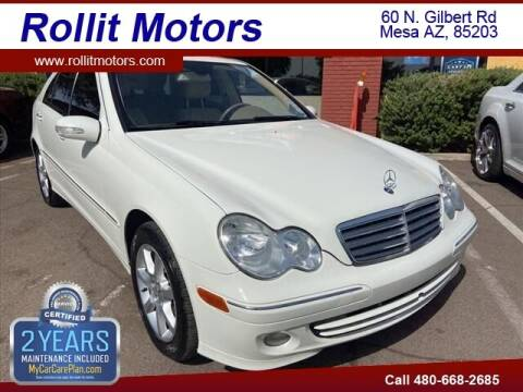 2007 Mercedes-Benz C-Class for sale at Rollit Motors in Mesa AZ