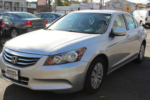 2012 Honda Accord for sale at Grasso's Auto Sales in Providence RI