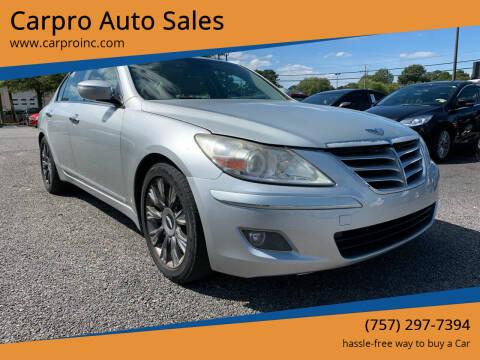 2009 Hyundai Genesis for sale at Carpro Auto Sales in Chesapeake VA