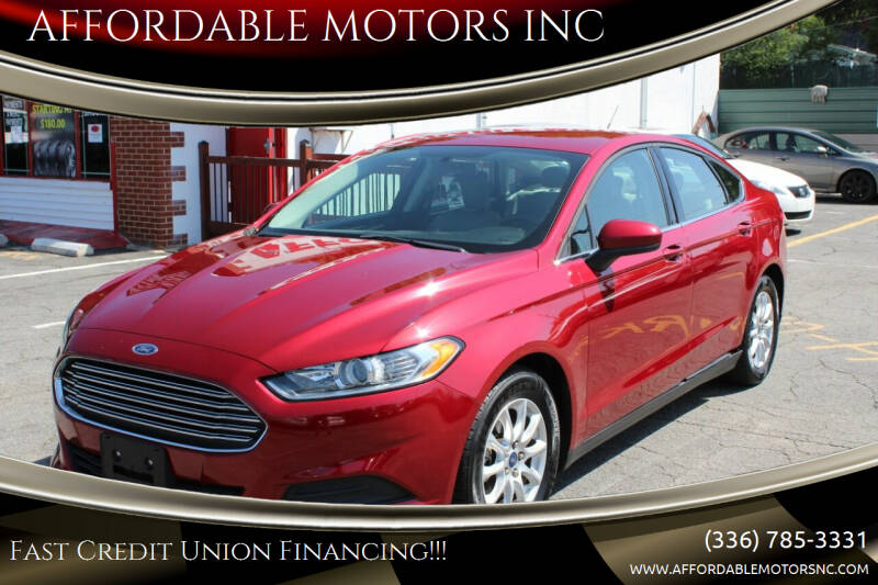 2015 Ford Fusion for sale at AFFORDABLE MOTORS INC in Winston Salem NC