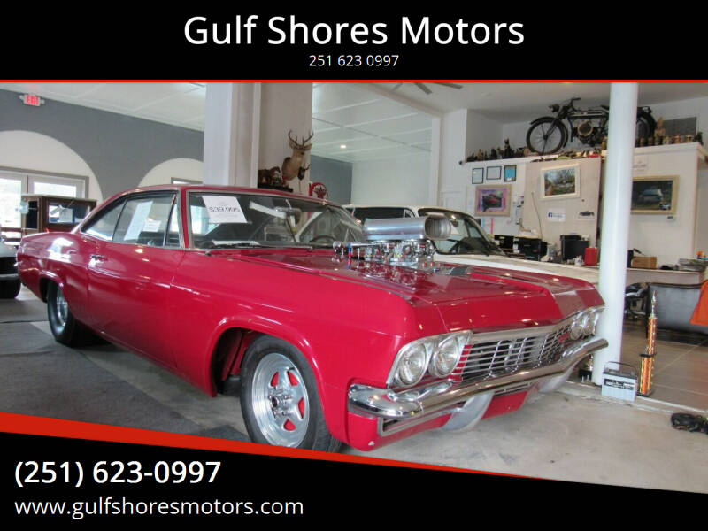 1965 Chevrolet Impala for sale at Gulf Shores Motors in Gulf Shores AL