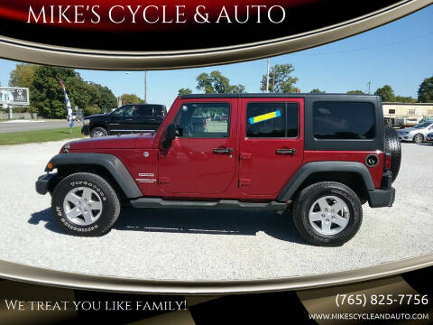 2013 Jeep Wrangler Unlimited for sale at MIKE'S CYCLE & AUTO in Connersville IN