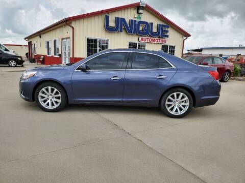 "2014 Chevrolet Malibu for sale at UNIQUE AUTOMOTIVE ""BE UNIQUE"" in Garden City KS"
