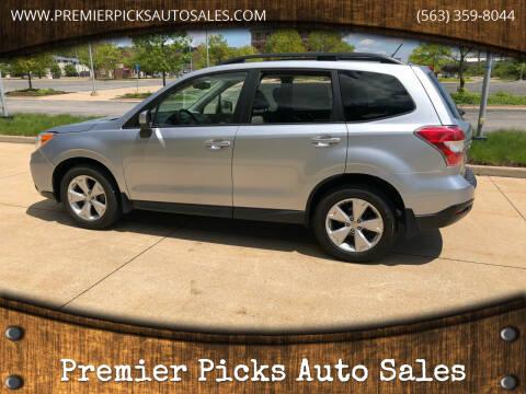 2015 Subaru Forester for sale at Premier Picks Auto Sales in Bettendorf IA