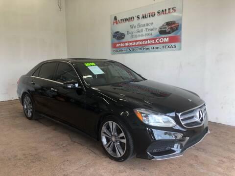 2016 Mercedes-Benz E-Class for sale at Antonio's Auto Sales in South Houston TX