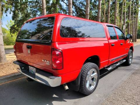 2007 Dodge Ram Pickup 1500 for sale at CLEAR CHOICE AUTOMOTIVE in Milwaukie OR
