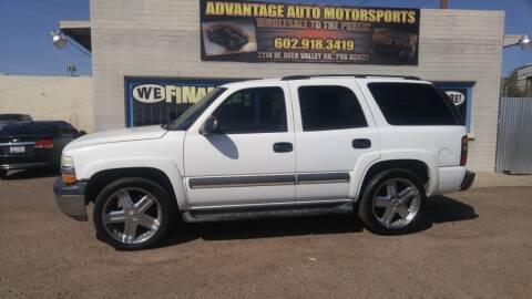 2004 Chevrolet Tahoe for sale at Advantage Auto Motorsports in Phoenix AZ