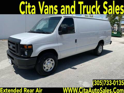 2013 FORD ECONOLINE E350 EXTENDED CARGO VAN for sale at Cita Auto Sales in Medley FL