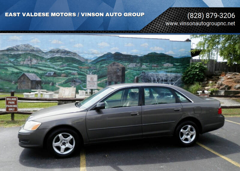 2003 Toyota Avalon for sale at EAST VALDESE MOTORS / VINSON AUTO GROUP in Valdese NC
