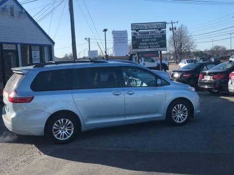 2015 Toyota Sienna for sale at HYANNIS FOREIGN AUTO SALES in Hyannis MA