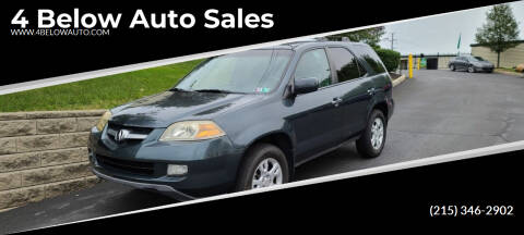 2005 Acura MDX for sale at 4 Below Auto Sales in Willow Grove PA