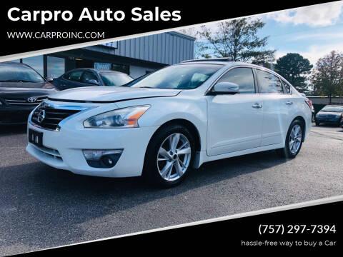 2014 Nissan Altima for sale at Carpro Auto Sales in Chesapeake VA