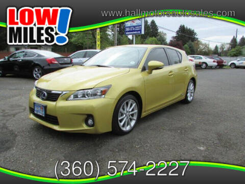 2011 Lexus CT 200h for sale at Hall Motors LLC in Vancouver WA
