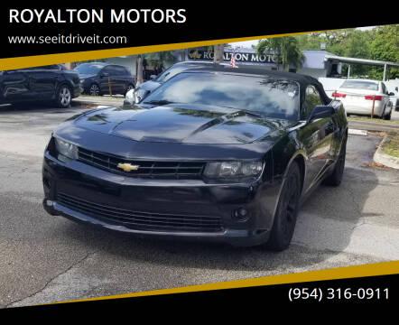 2014 Chevrolet Camaro for sale at ROYALTON MOTORS in Plantation FL