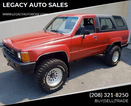 1986 Toyota 4Runner for sale at LEGACY AUTO SALES in Boise ID