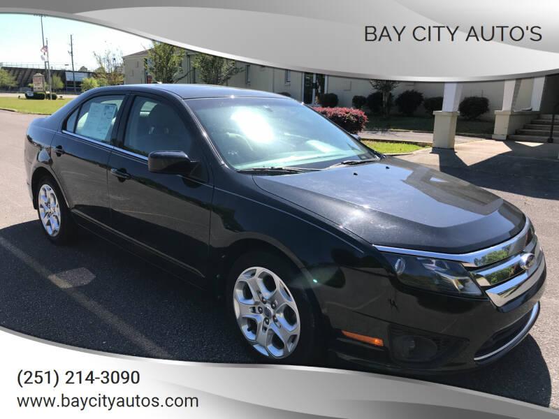 2011 Ford Fusion for sale at Bay City Auto's in Mobile AL