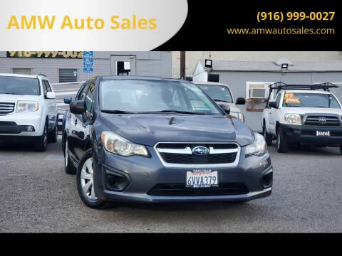 2012 Subaru Impreza for sale at AMW Auto Sales in Sacramento CA