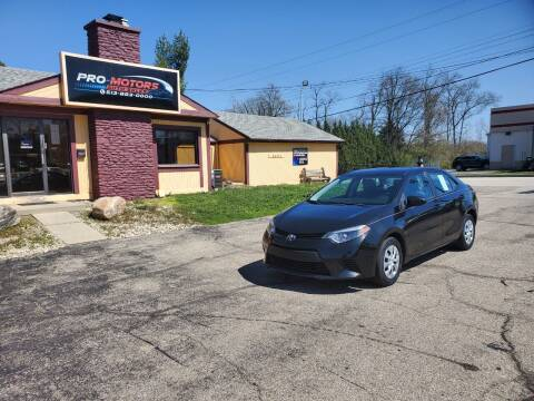 2014 Toyota Corolla for sale at Pro Motors in Fairfield OH