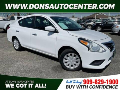 2016 Nissan Versa for sale at Dons Auto Center in Fontana CA