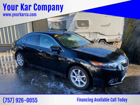 2013 Acura TSX for sale at Your Kar Company in Norfolk VA