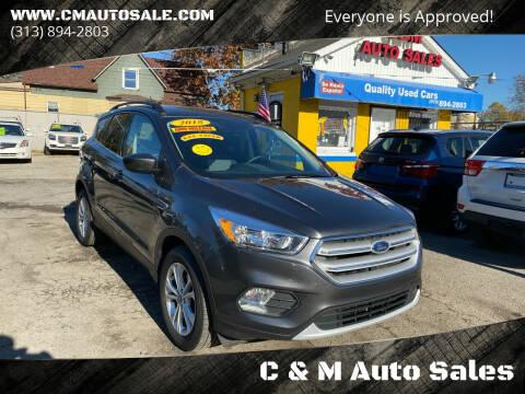 2018 Ford Escape for sale at C & M Auto Sales in Detroit MI