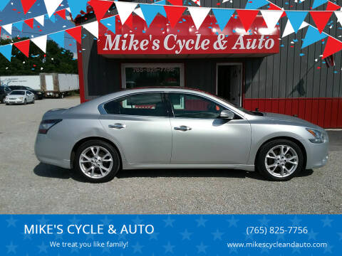 2013 Nissan Maxima for sale at MIKE'S CYCLE & AUTO in Connersville IN