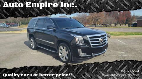 2015 Cadillac Escalade for sale at Auto Empire Inc. in Murfreesboro TN