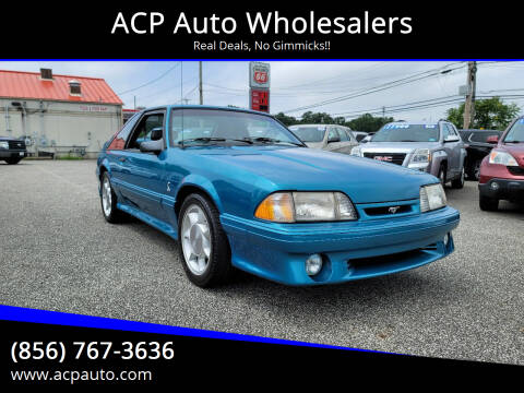 1993 Ford Mustang SVT Cobra for sale at ACP Auto Wholesalers in Berlin NJ