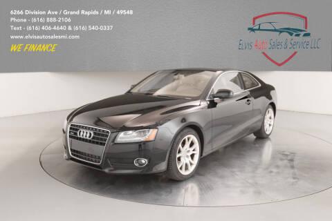 2012 Audi A5 for sale at Elvis Auto Sales LLC in Grand Rapids MI