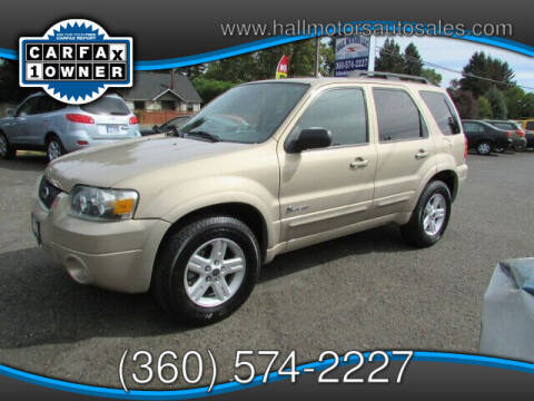 2007 Ford Escape Hybrid for sale at Hall Motors LLC in Vancouver WA