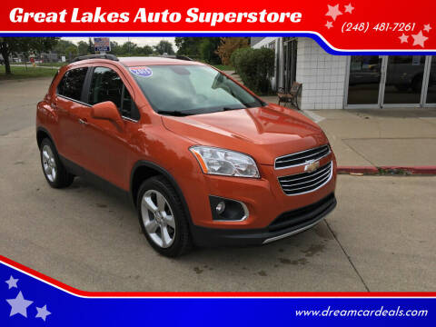 2015 Chevrolet Trax for sale at Great Lakes Auto Superstore in Pontiac MI